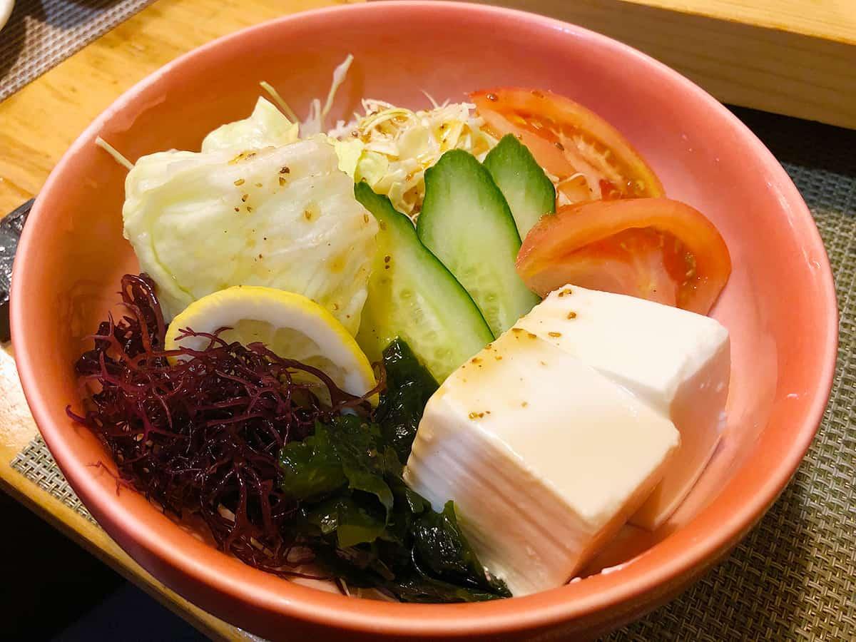 福井 大手 大衆割烹 善甚 野菜サラダ