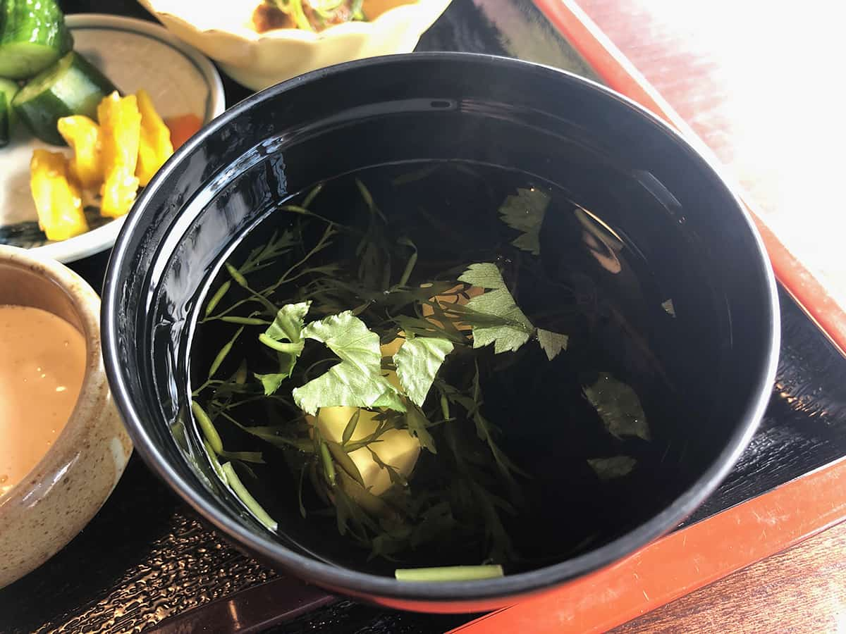 石川 珠洲 庄屋の館 味噌汁