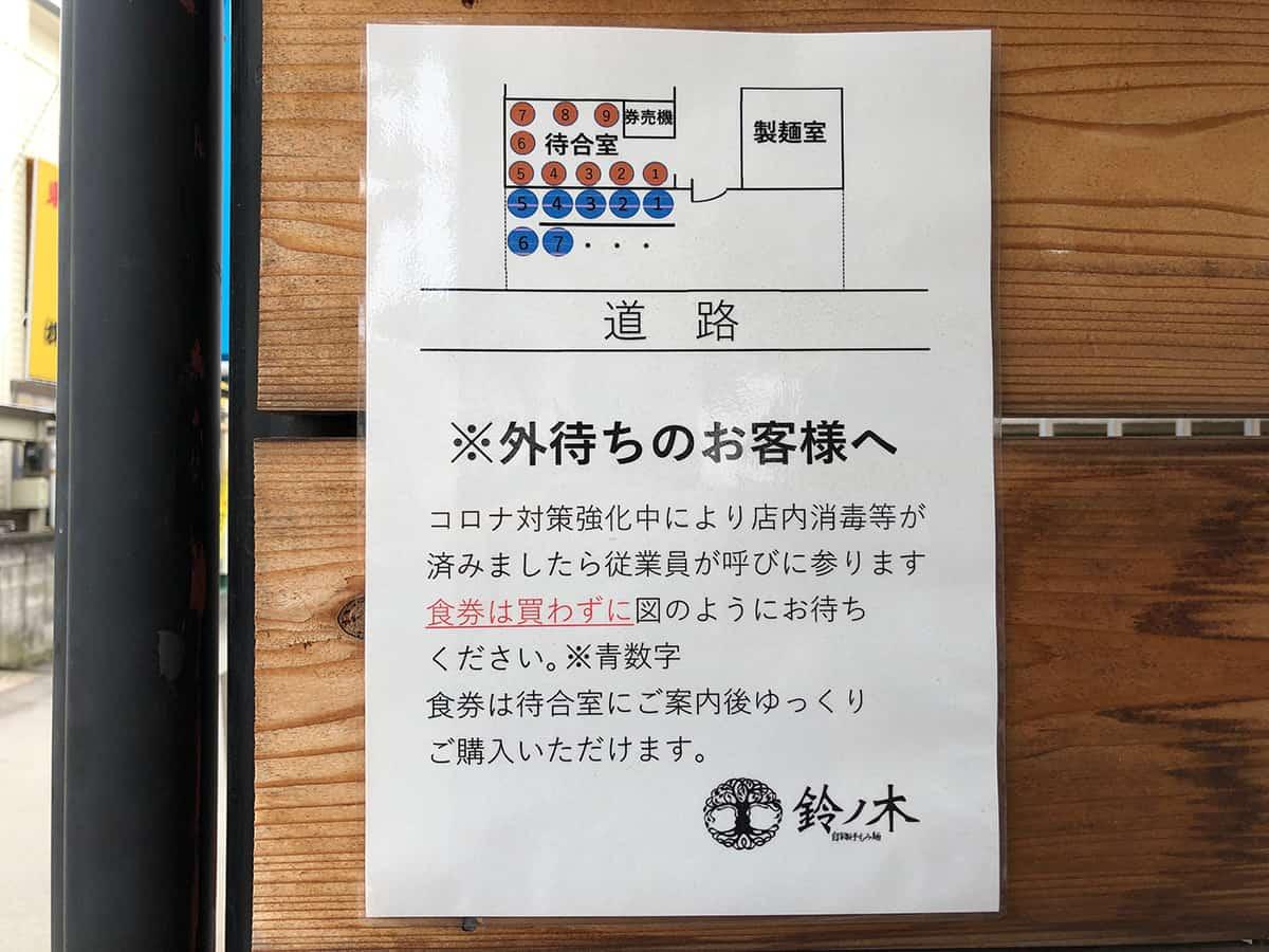 埼玉 所沢 自家製手もみ麺 鈴ノ木 入店方法