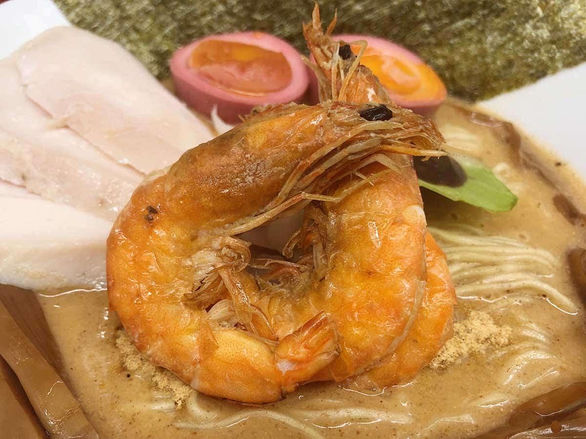 東京 銀座 マグロ卸のマグロ丼とラーメンの店|ソフトシェルシュリンプ