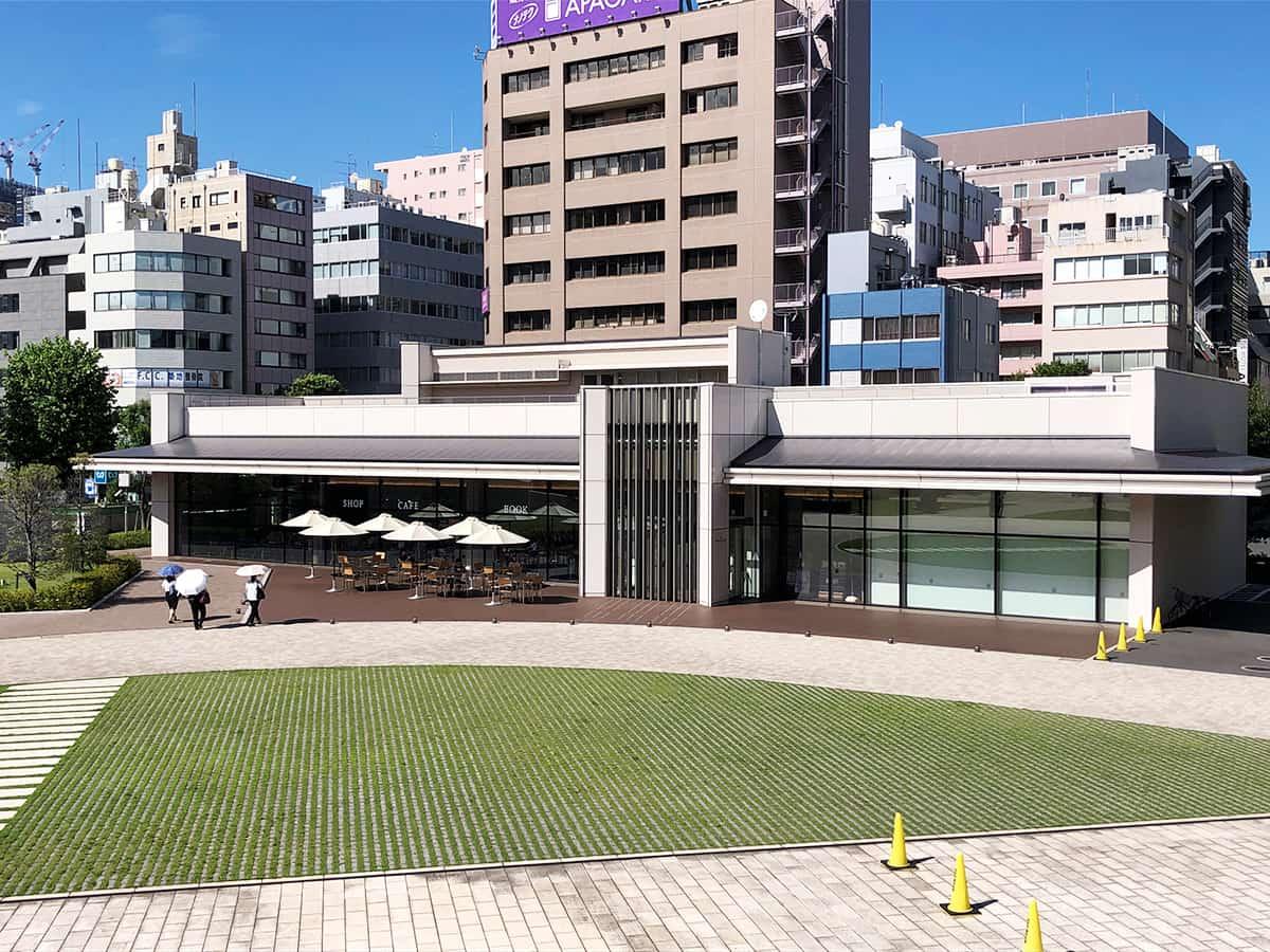 東京 築地 築地本願寺カフェ Tsumugi|外観