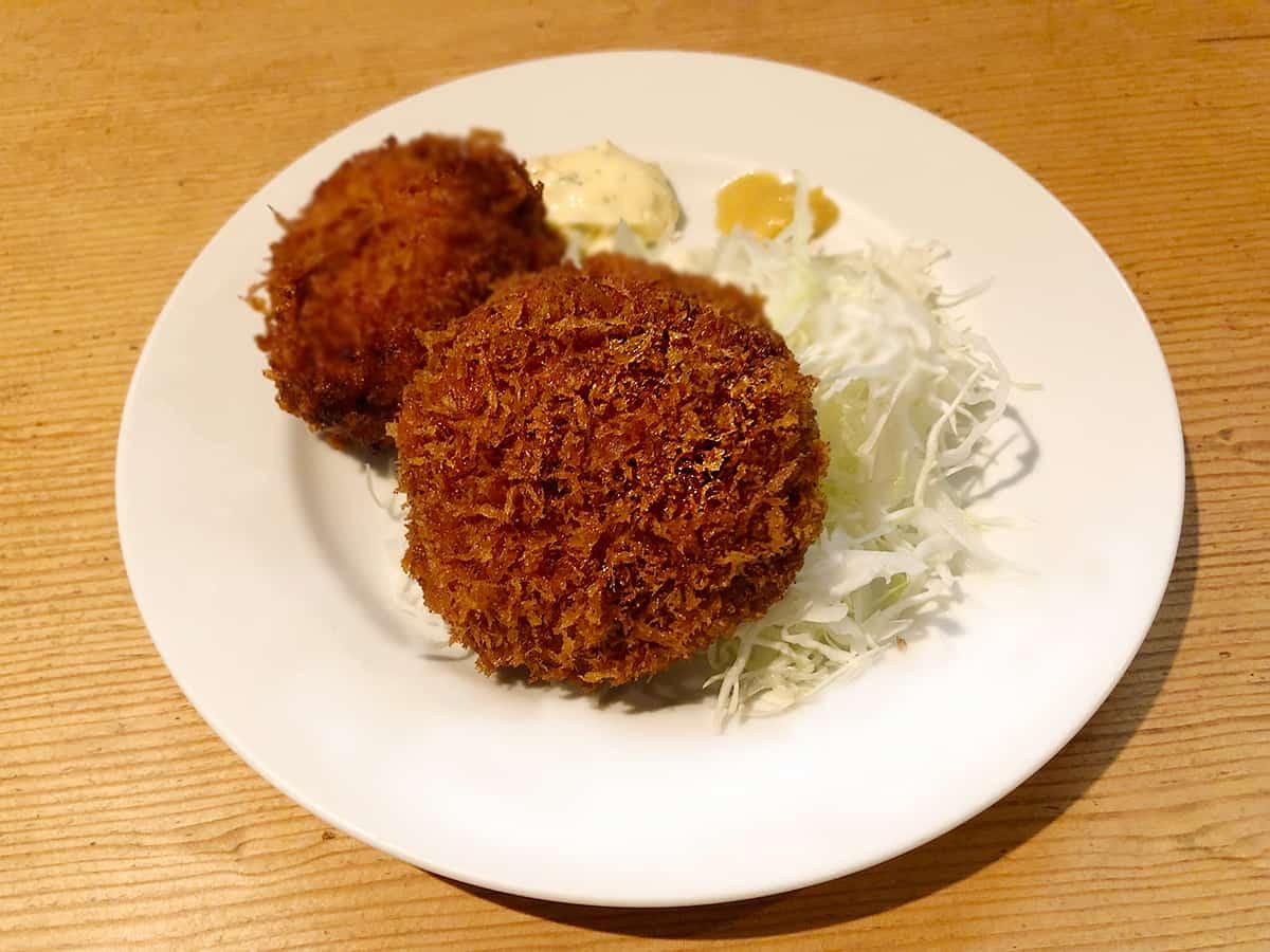 東京 池袋 ウチョウテン シーフードクリームコロッケとメンチカツ