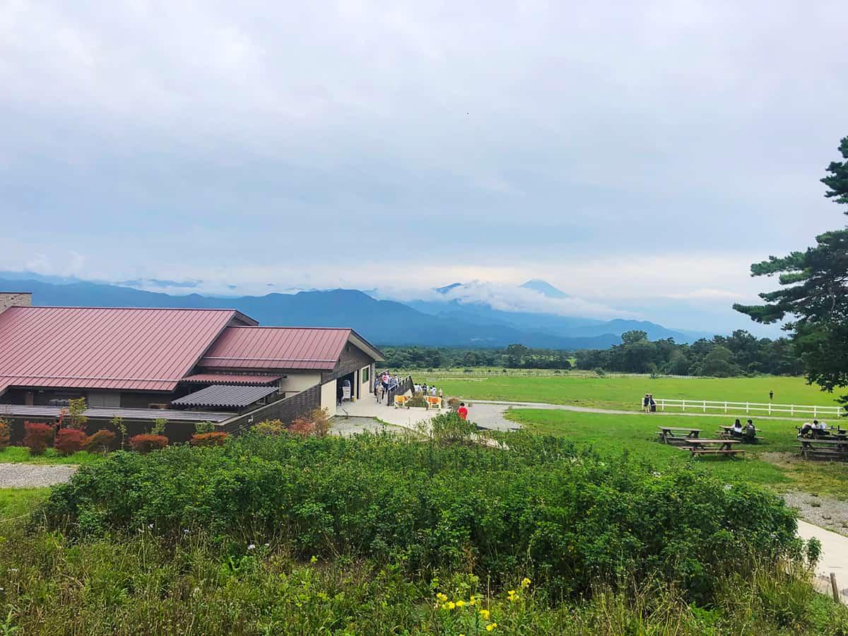 山梨 北杜 清泉寮本館レストラン|清泉寮からの景色