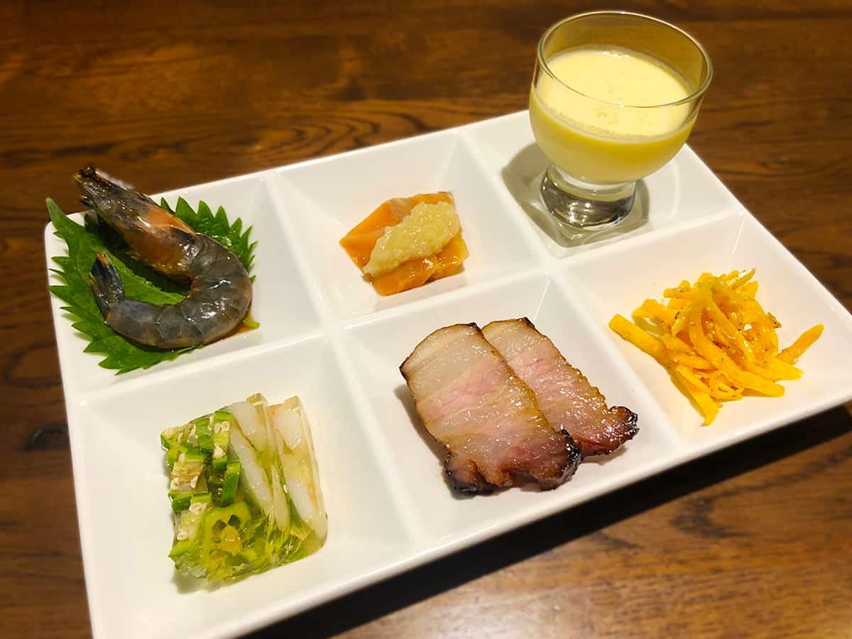 東京 小石川 中国料理 豊栄|前菜6種