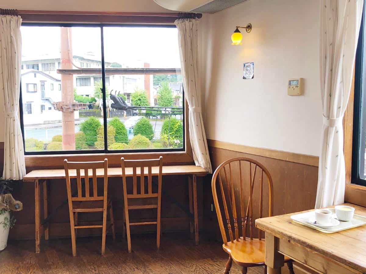 栃木 日光 明治の館 ケーキショップ 2階イートイン