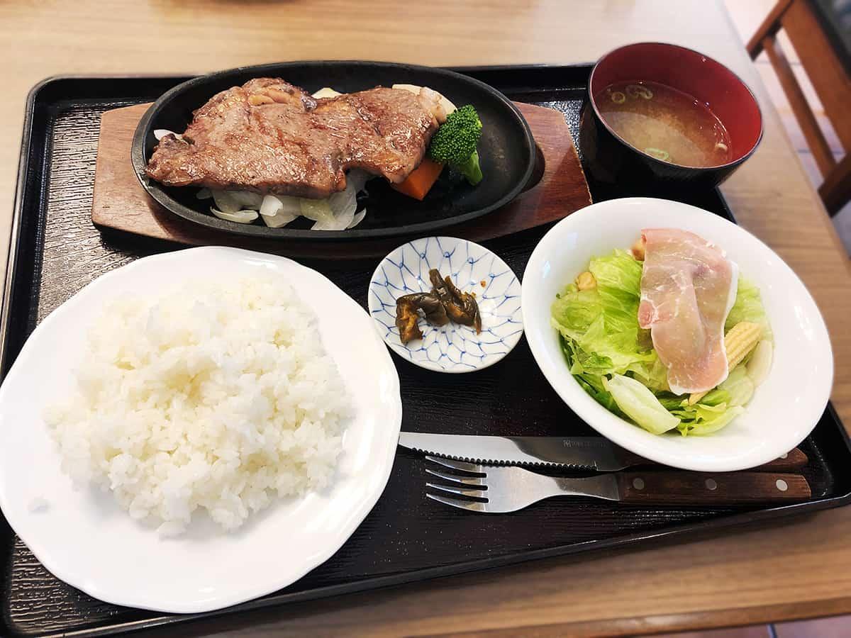 栃木 那須 ステーキハウス寿楽 本店|サーロインステーキ定食