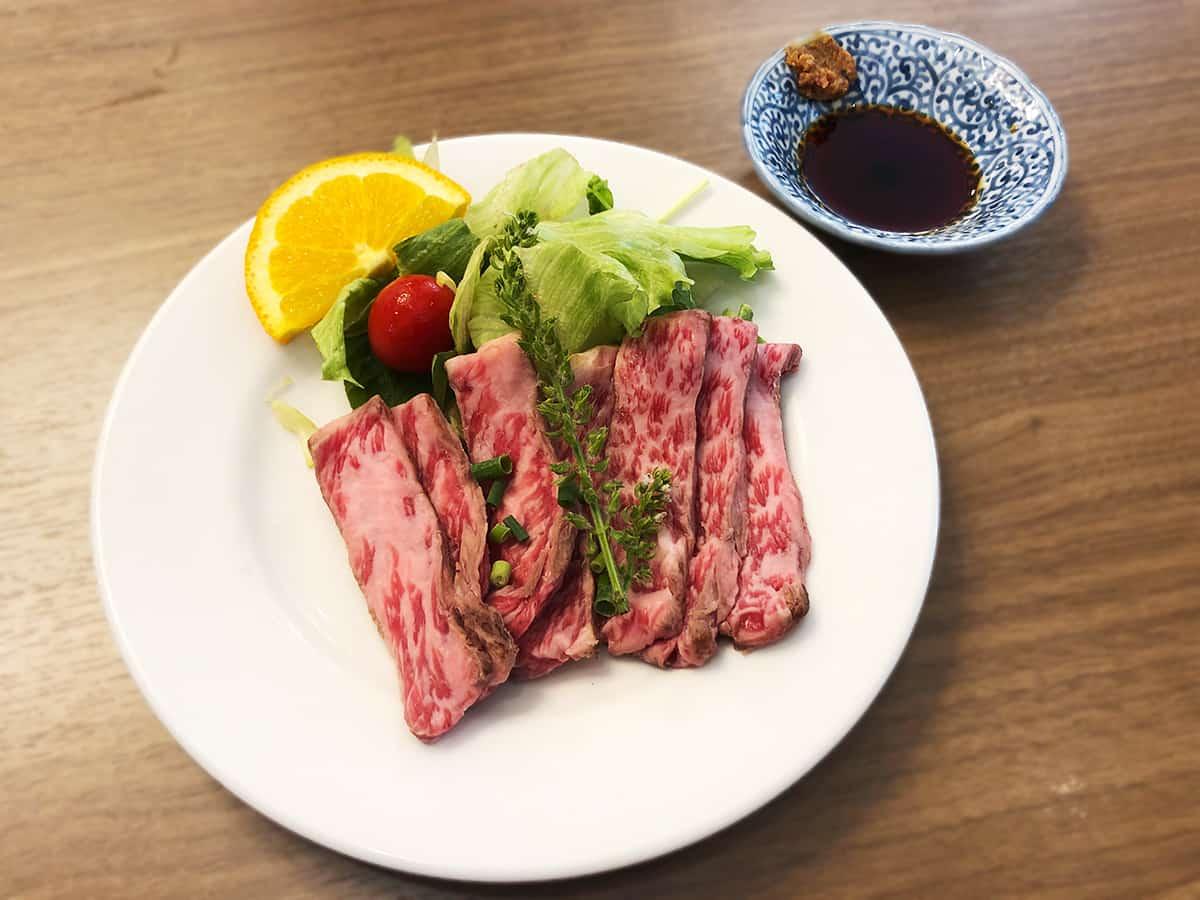 栃木 那須 ステーキハウス寿楽 本店|牛のたたき