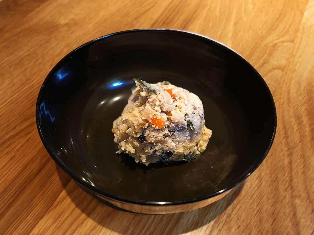干し貝柱と干し椎茸のうの花|東京 江古田 手打蕎麦 じゆうさん