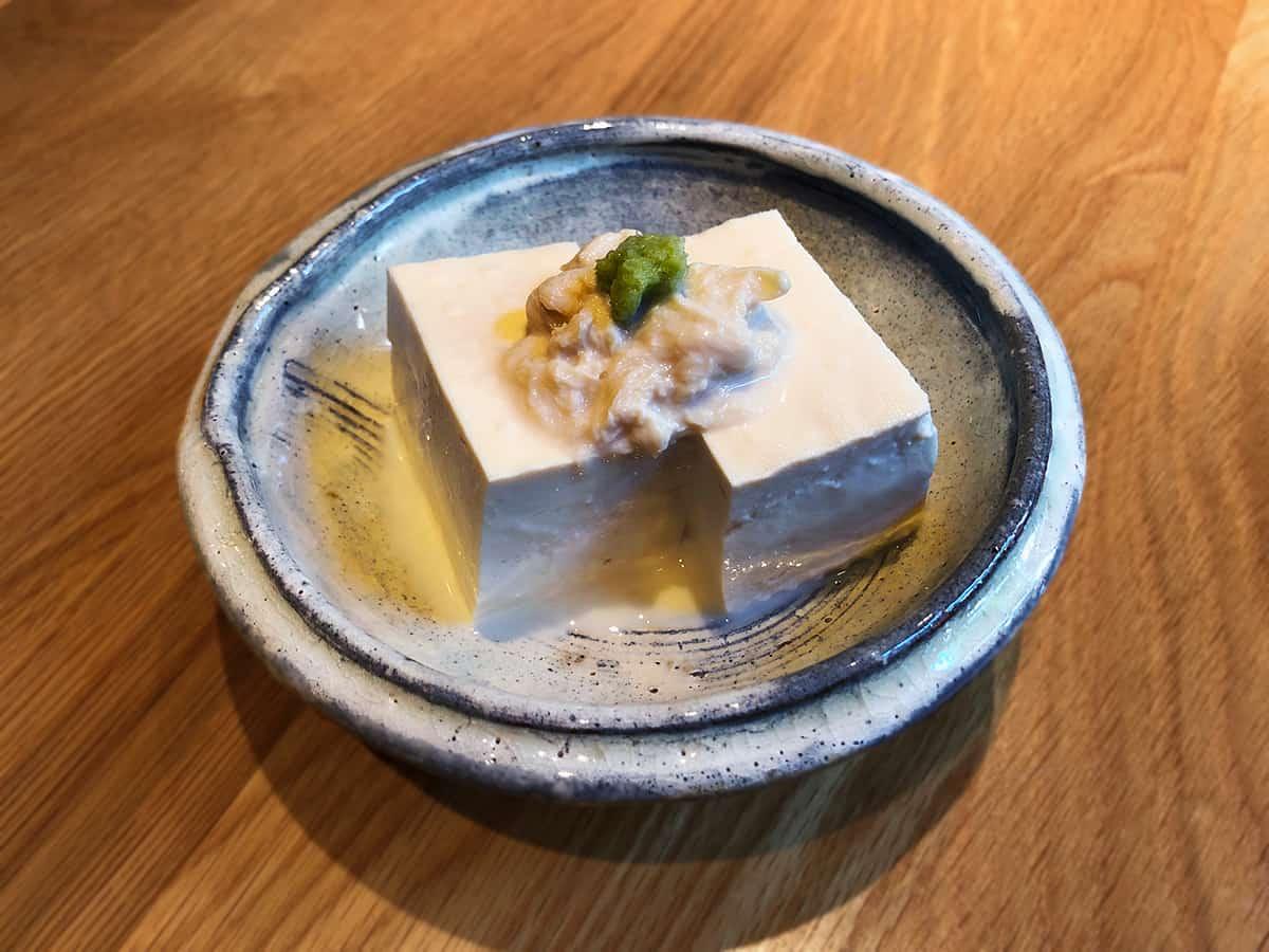自家製湯葉付き豆腐|東京 江古田 手打蕎麦 じゆうさん