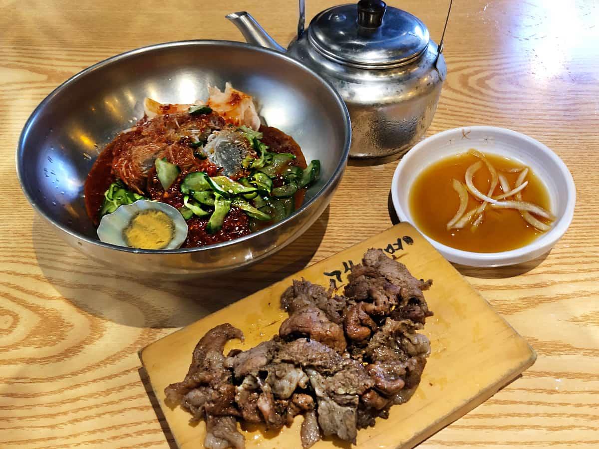 ビビン冷麺セット|東京 新大久保 コサム冷麺専門店
